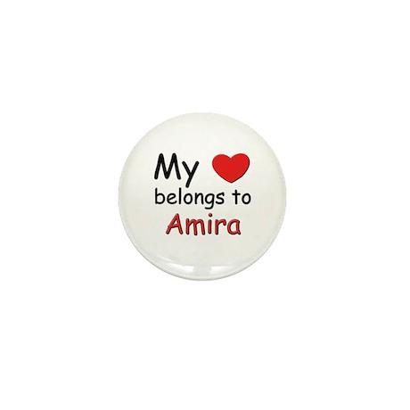 My heart belongs to amira Mini Button