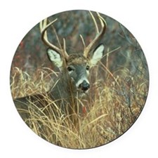 deer1001 Round Car Magnet