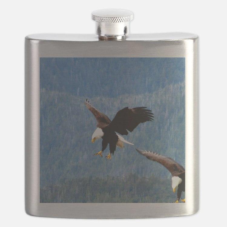 Solid landing Bald Eagle Flask