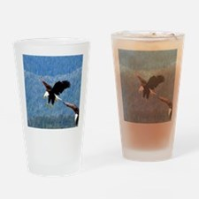 Solid landing Bald Eagle Drinking Glass