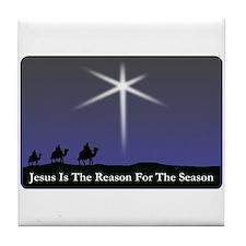Jesus is the reason for the season Christmas Tile