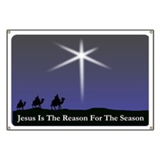 Jesus is the reason for the season Christmas Banne
