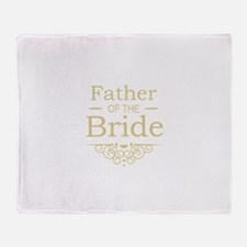 Father of the Bride gold Throw Blanket