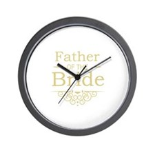 Father of the Bride gold Wall Clock