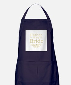 Father of the Bride gold Apron (dark)