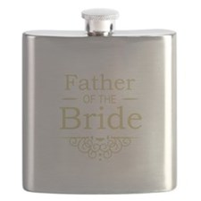 Father of the Bride gold Flask