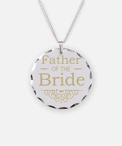 Father of the Bride gold Necklace