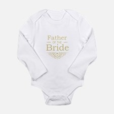Father of the Bride gold Body Suit