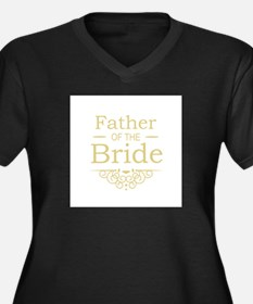 Father of the Bride gold Plus Size T-Shirt