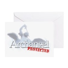2-archangel_protected Greeting Card