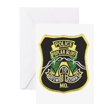 Poplar Bluff Police Greeting Cards (Pk of 10)