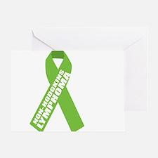 NH-Lymphoma--Hope-BLK Greeting Card