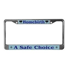 Homebirth License Plate Frame