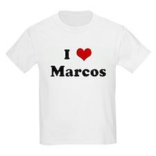 I Love Marcos Kids T-Shirt
