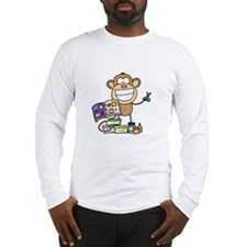 Scrapbook Monkey Long Sleeve T-Shirt