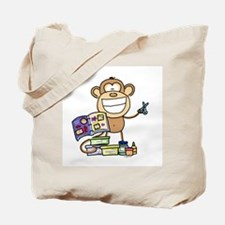 Scrapbook Monkey Tote Bag
