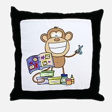 Scrapbook Monkey Throw Pillow