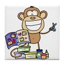 Scrapbook Monkey Tile Coaster
