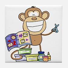 Scrapbook Monkey Tile Coaster