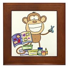 Scrapbook Monkey Framed Tile