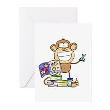 Scrapbook Monkey Greeting Cards (Pk of 10)