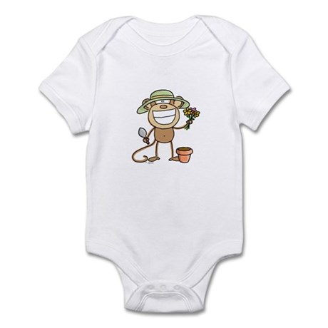 Gardening Monkey Infant Bodysuit