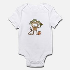 Gardening Monkey Infant Bodysuit