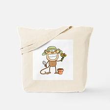 Gardening Monkey Tote Bag