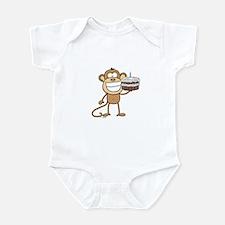 Birthday Cake Monkey Infant Bodysuit