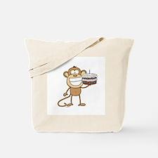 Birthday Cake Monkey Tote Bag