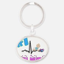 NICU NURSE Oval Keychain