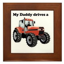Daddy Drives a Tractor Framed Tile
