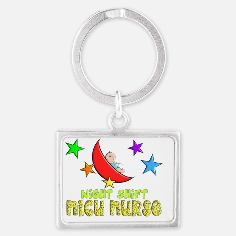 Night Shift NICU NURSE Landscape Keychain