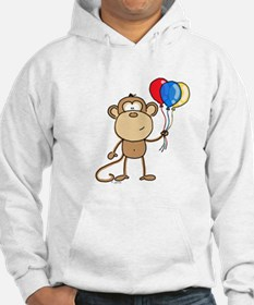 Monkey with Balloons Hoodie