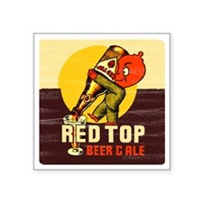 "redtopbeer Square Sticker 3"" x 3"""