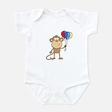 Monkey with Balloons Infant Bodysuit