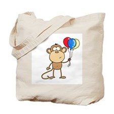 Monkey with Balloons Tote Bag