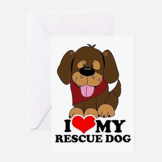 I love my Rescue Dog Greeting Card