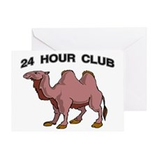 24 HOUR CLUB.gif Greeting Card