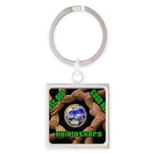 2-clean house Square Keychain