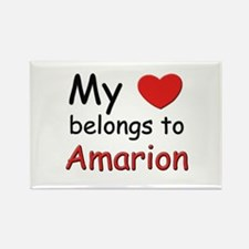 My heart belongs to amarion Rectangle Magnet