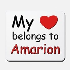 My heart belongs to amarion Mousepad