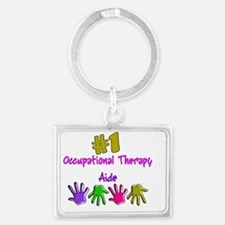 Occupational Therapy Aide Landscape Keychain