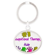 Occupational Therapy Aide Oval Keychain