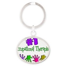 Occupation Therapist Oval Keychain