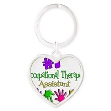 Occupational Therapy Assist Heart Keychain