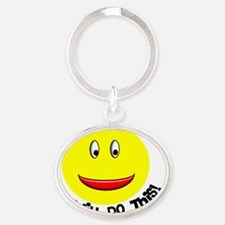 OT Smiley Oval Keychain