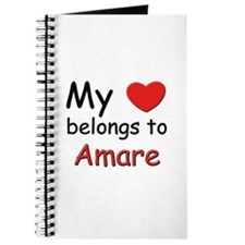 My heart belongs to amare Journal