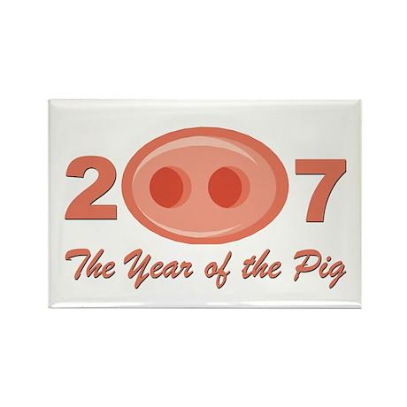 """2007 - Pig Snout"" Rectangle Magnet"
