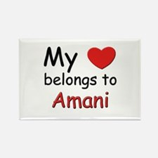 My heart belongs to amani Rectangle Magnet